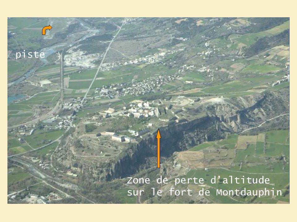 Zone de perte daltitude sur le fort de Montdauphin piste