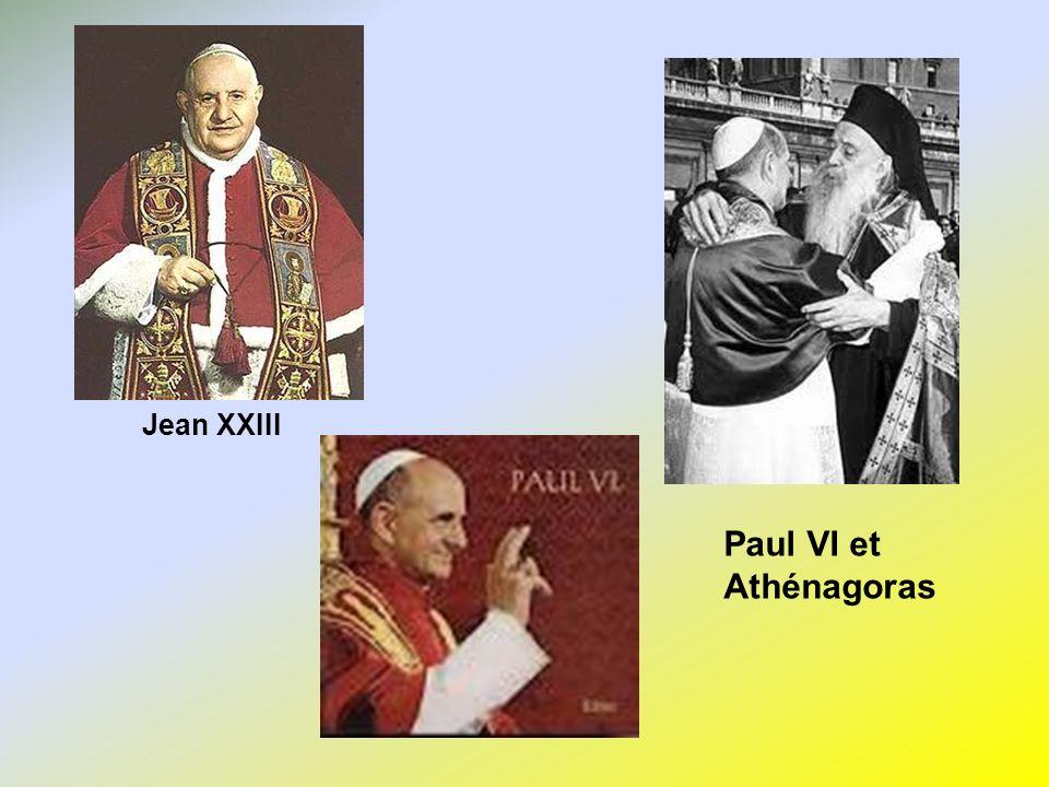 Jean XXIII Paul VI et Athénagoras