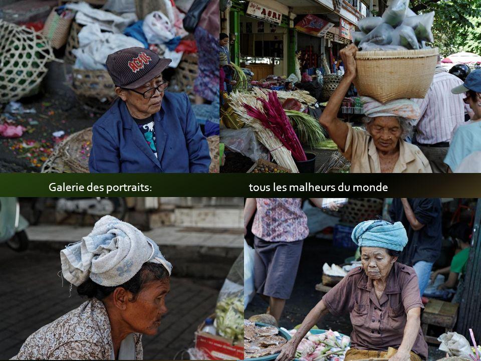 Au marché, des portraits & de la nourriture pour les Dieux et pour les Humains