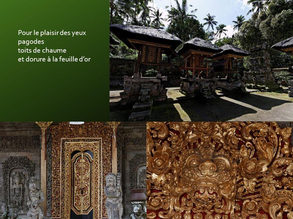 Au Sud-Est de Susut le magnifique temple KEHEN mis en valeur par de belles mousses tropicales