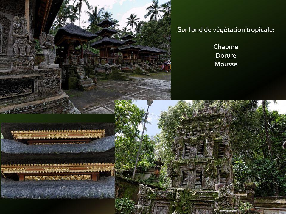 Pour le plaisir des yeux pagodes toits de chaume et dorure à la feuille dor