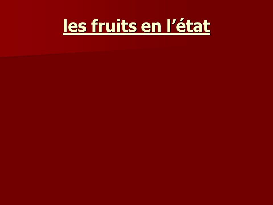 les fruits en létat