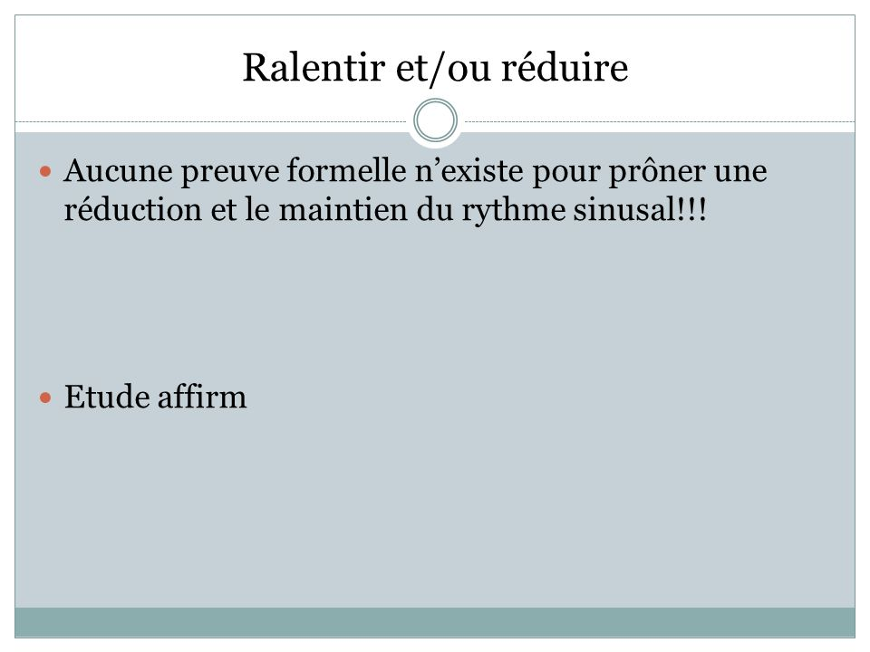 FIBRILLATION AURICULAIRE Cont.FREQUENCE VS Cont. RYTHME FIBRILLATION AURICULAIRE Cont.