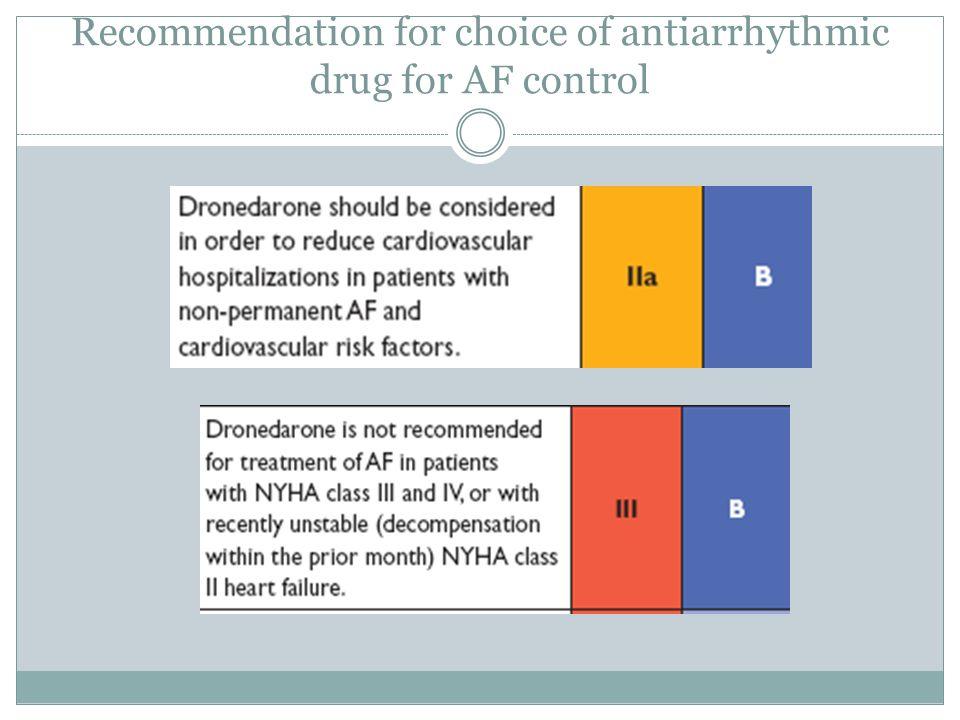 Choice of antiarrhythmic drug according to underlying pathology