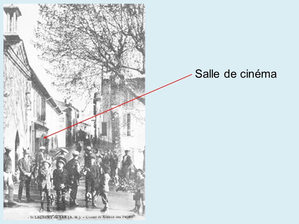 Il y avait une salle de cinéma à SAINT-LAURENT-DU-VAR
