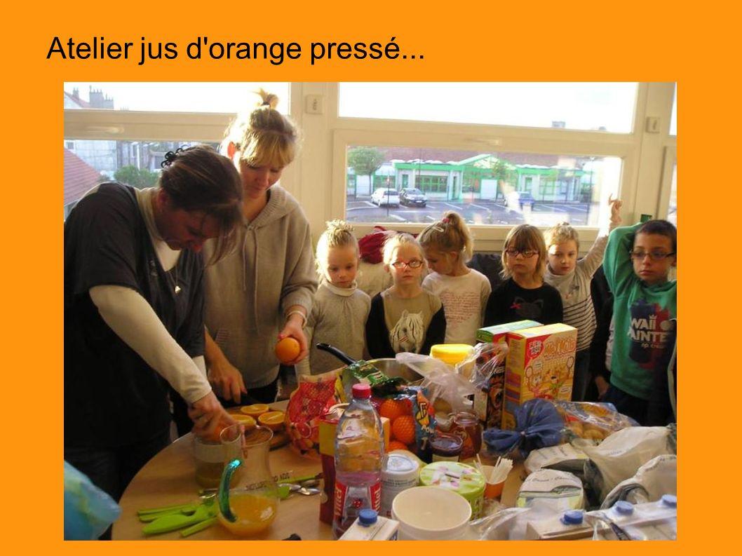 Atelier jus d'orange pressé...