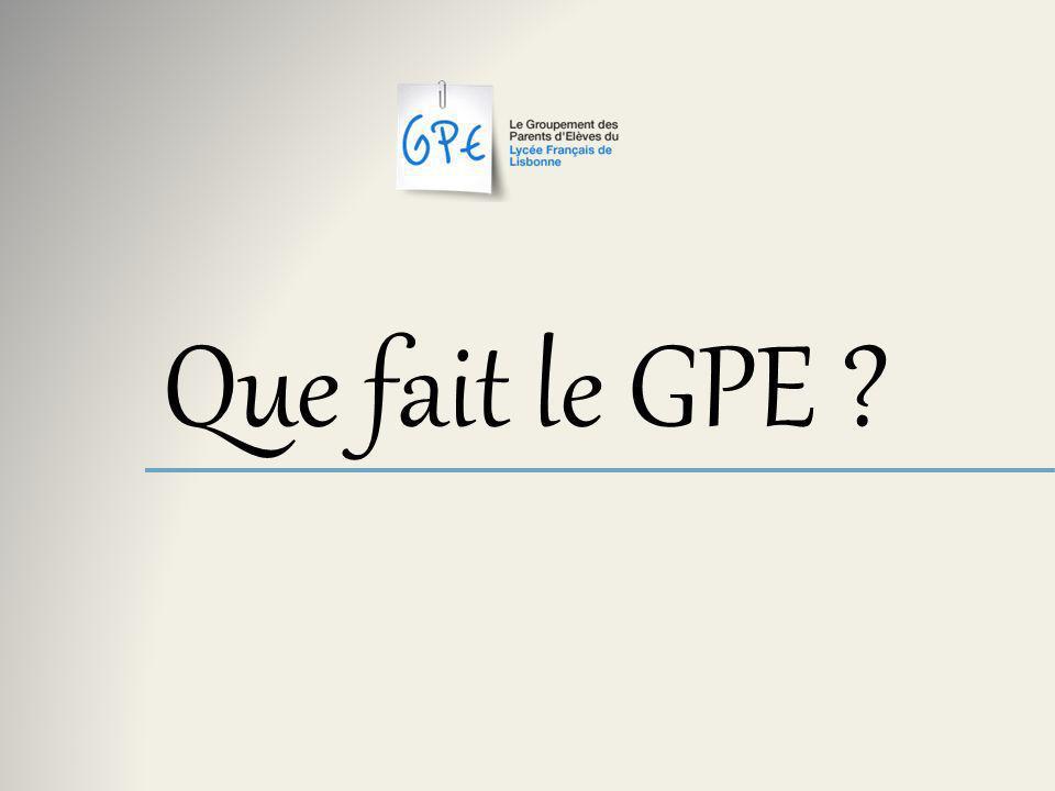 Que fait le GPE ?