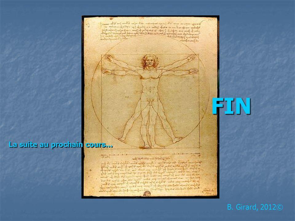 B. Girard, 2012© FIN La suite au prochain cours…