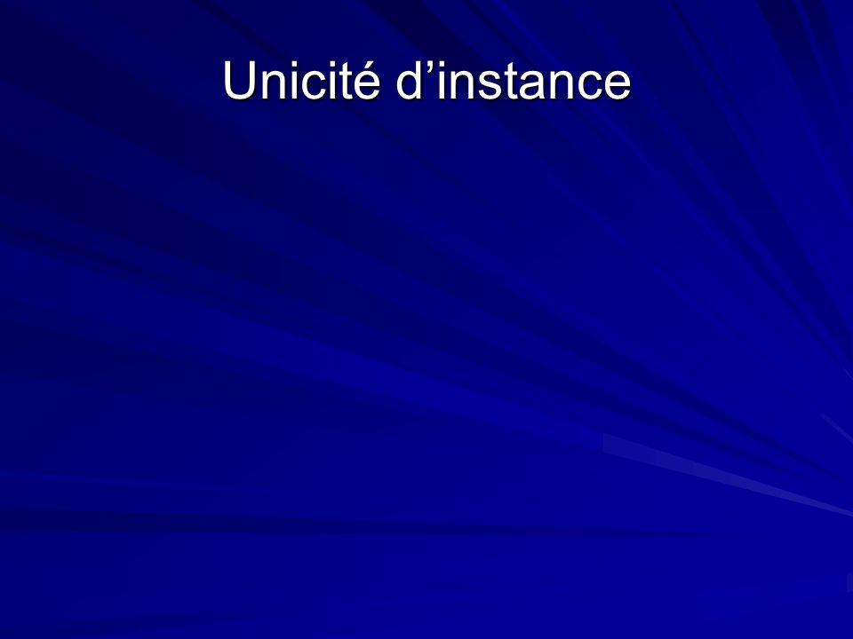 Unicité dinstance