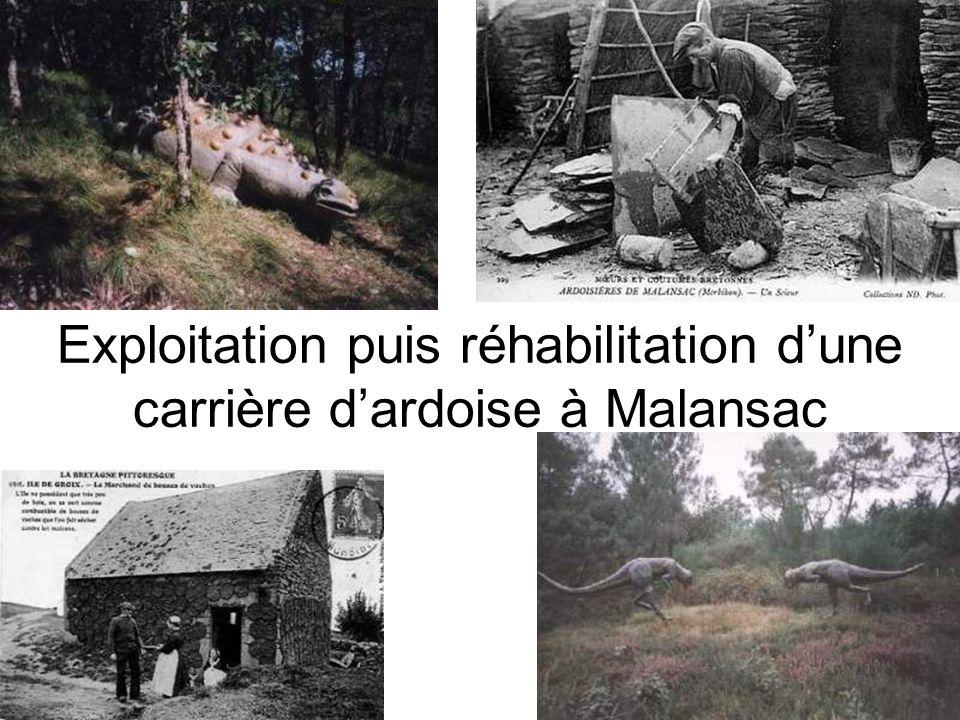 Exploitation puis réhabilitation dune carrière dardoise à Malansac