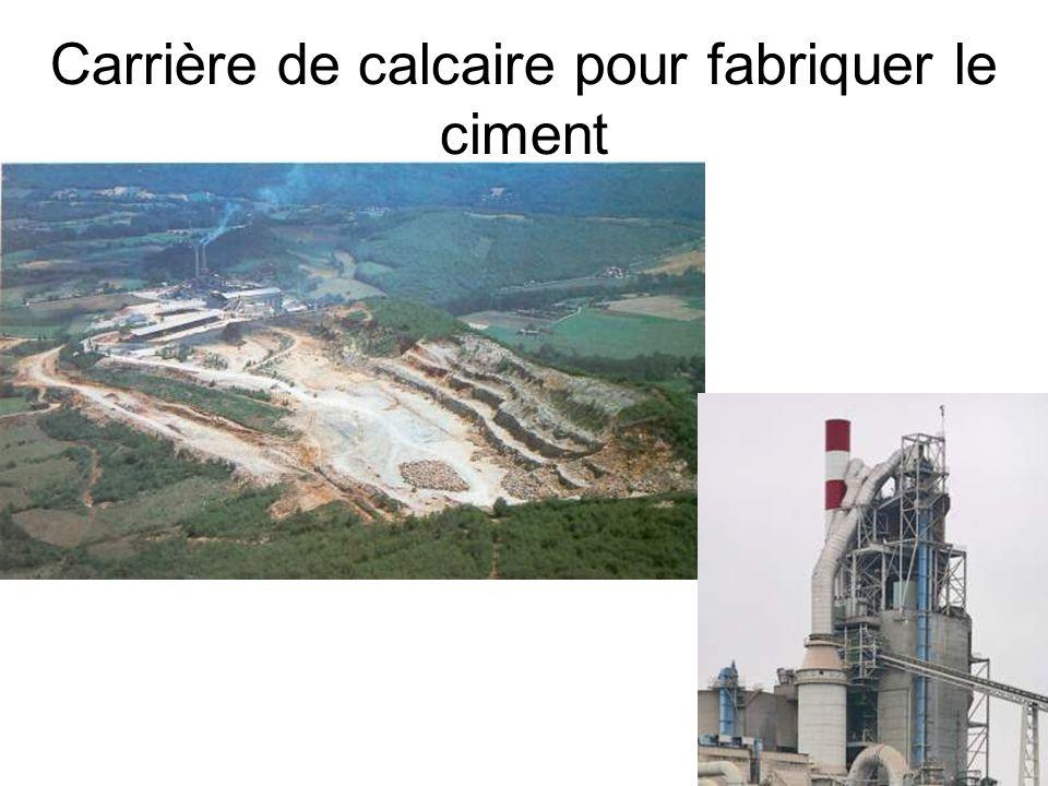 Carrière de calcaire pour fabriquer le ciment