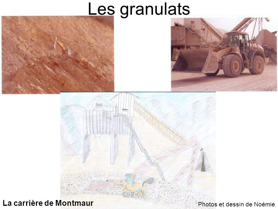 La carrière de Montmaur Photos et dessin de Noémie Les granulats