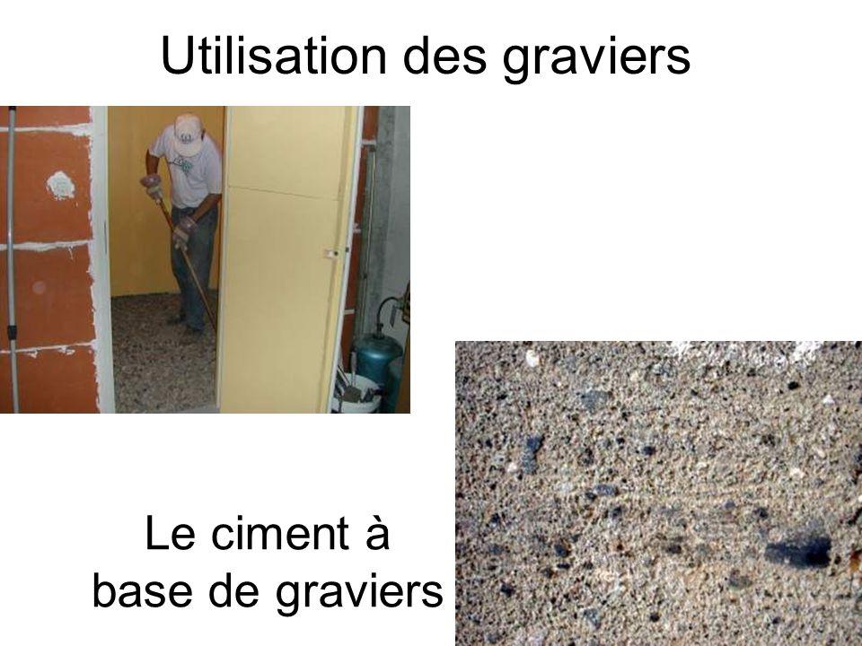Utilisation des graviers Le ciment à base de graviers