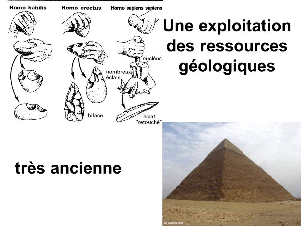 Une exploitation des ressources géologiques très ancienne
