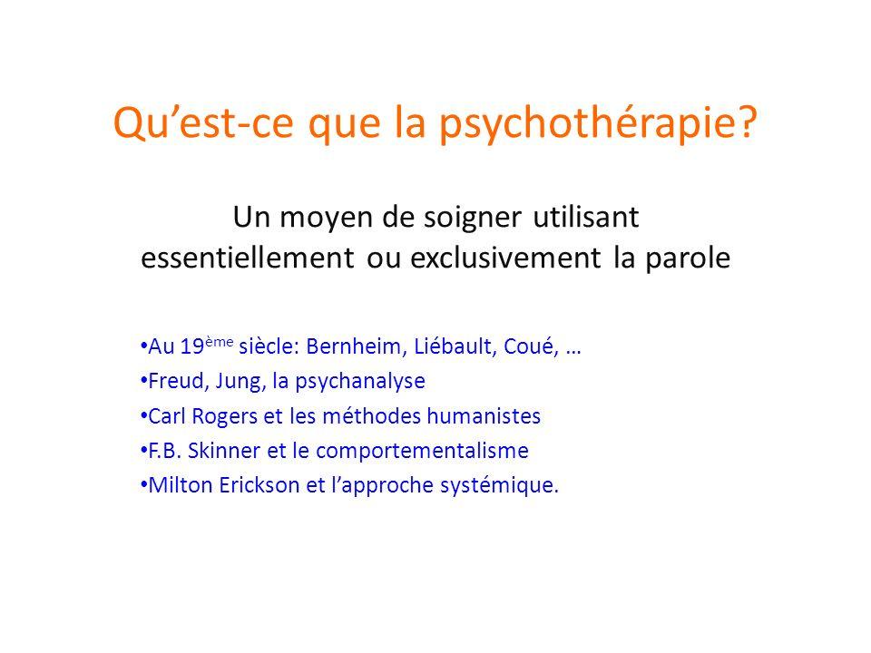 Quest-ce que la psychothérapie.