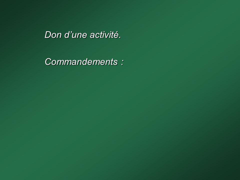 Commandements :