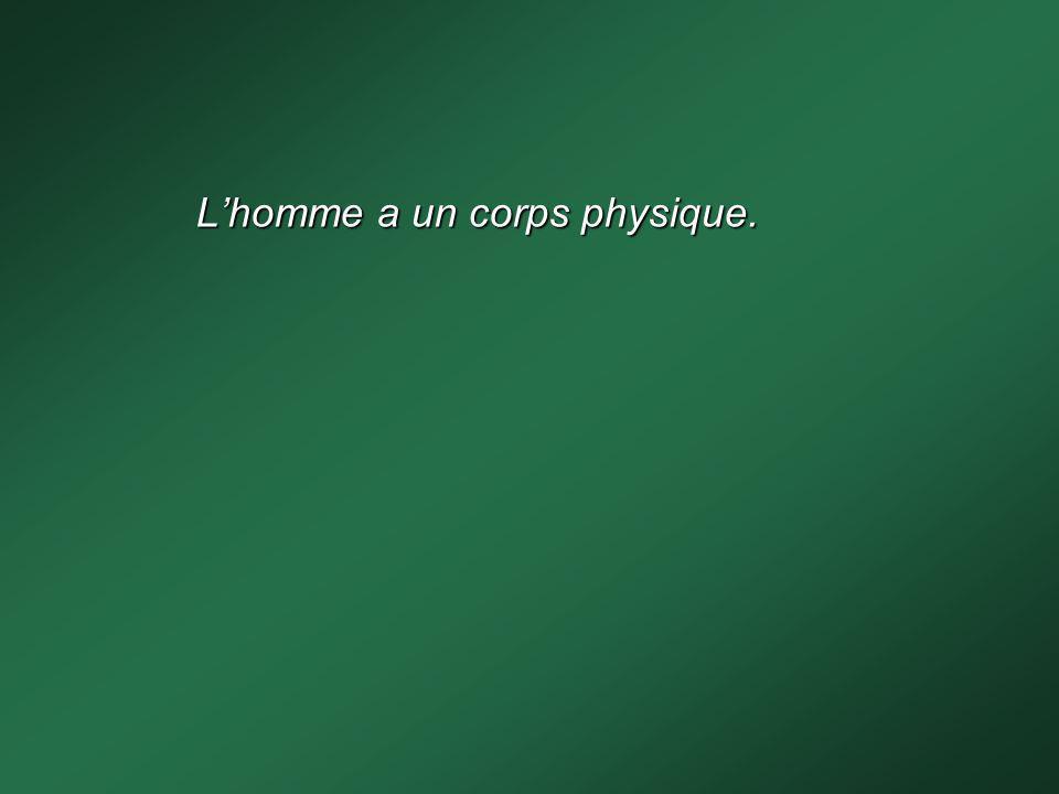 La nature de lhomme est double : - corps physique - esprit