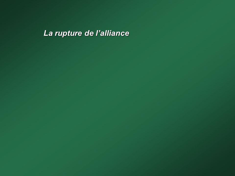La rupture de lalliance