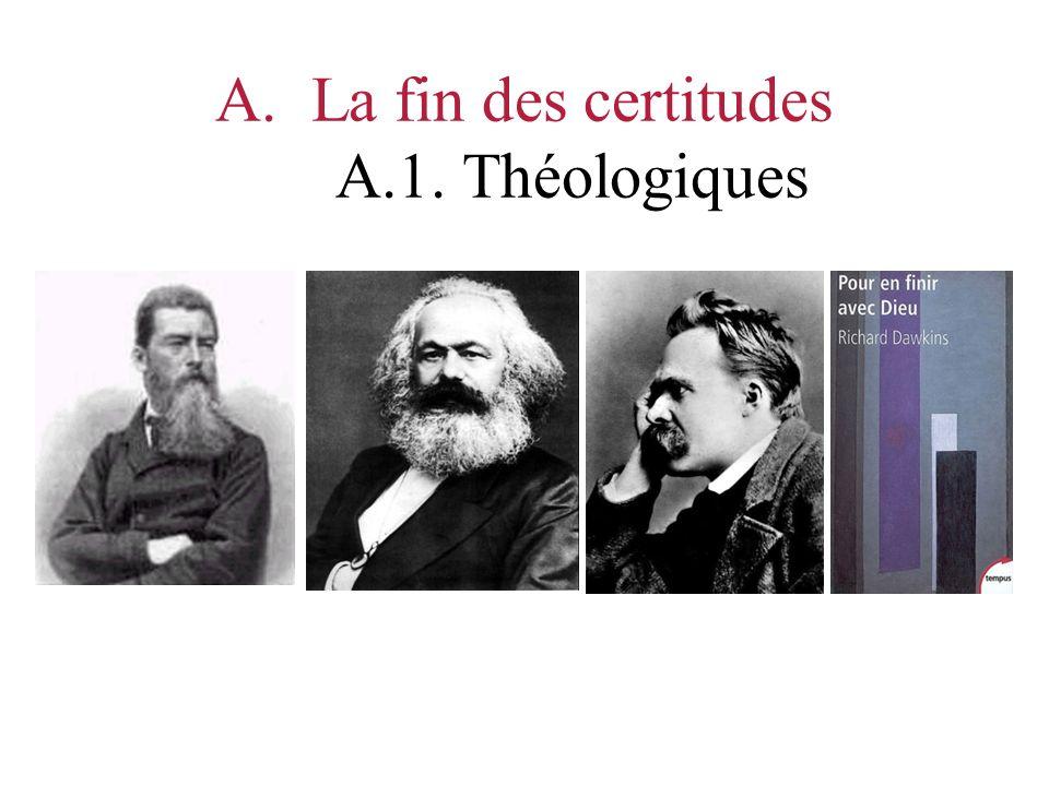 A.La fin des certitudes A.1. Théologiques