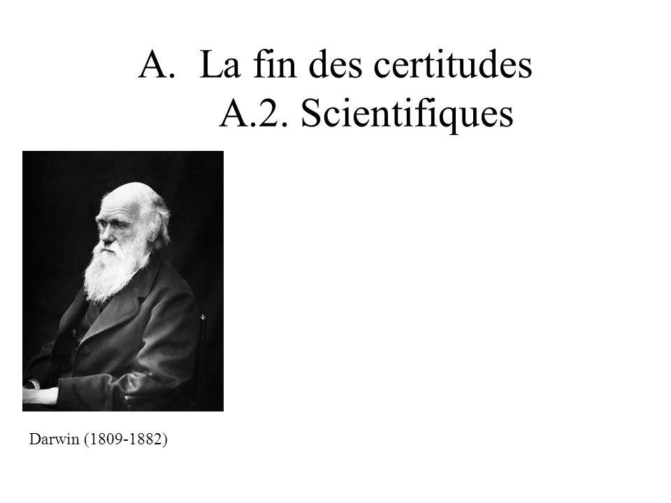 A.La fin des certitudes A.2. Scientifiques Darwin (1809-1882)