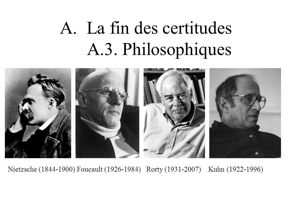 Nietzsche (1844-1900) Foucault (1926-1984) Rorty (1931-2007) Kuhn (1922-1996)