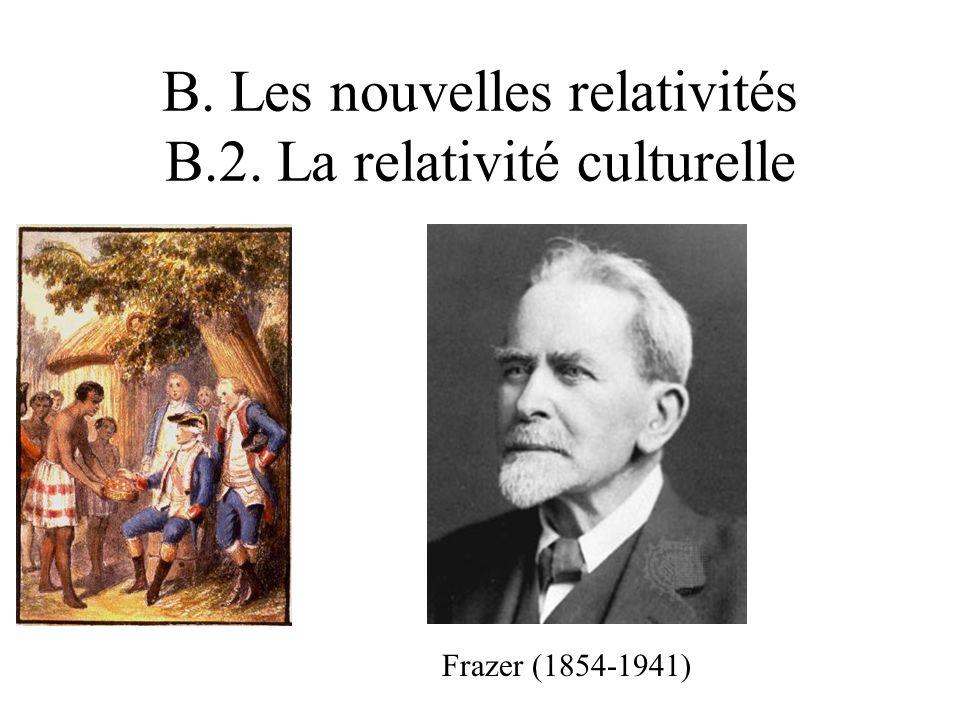 B. Les nouvelles relativités B.2. La relativité culturelle Frazer (1854-1941)