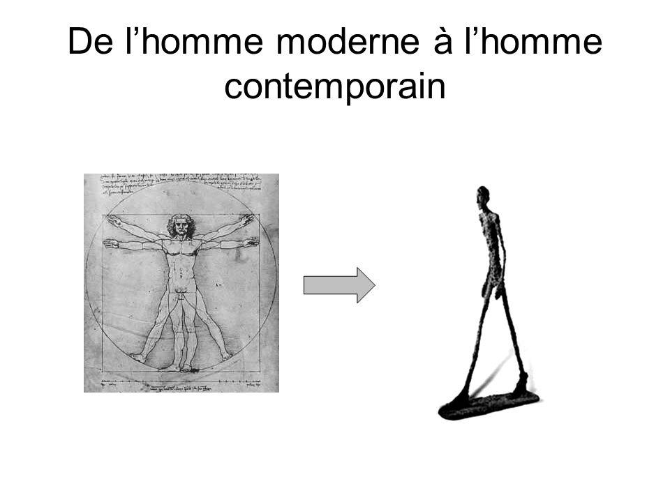 De lhomme moderne à lhomme contemporain