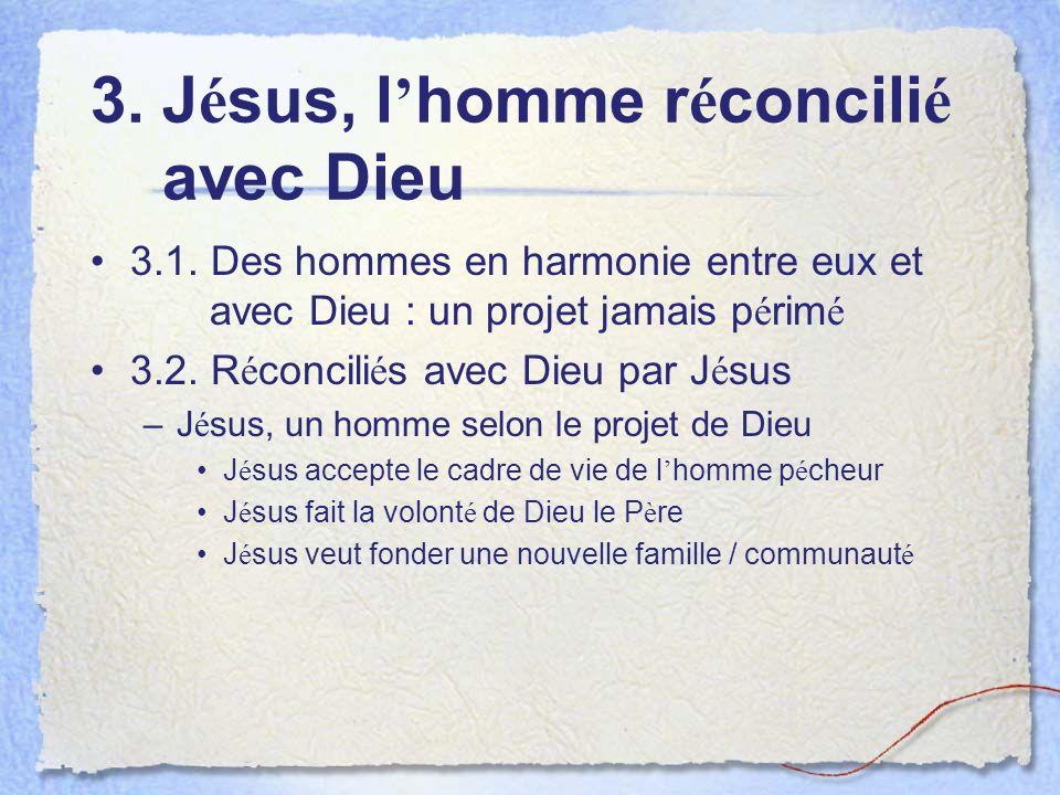 3. J é sus, l homme r é concili é avec Dieu 3.1.
