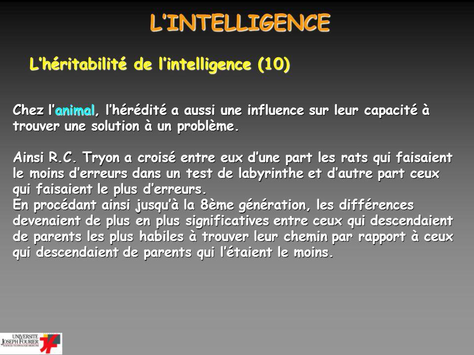 LINTELLIGENCE LINTELLIGENCE Existe-t-il un support neuronal à lintelligence générale .