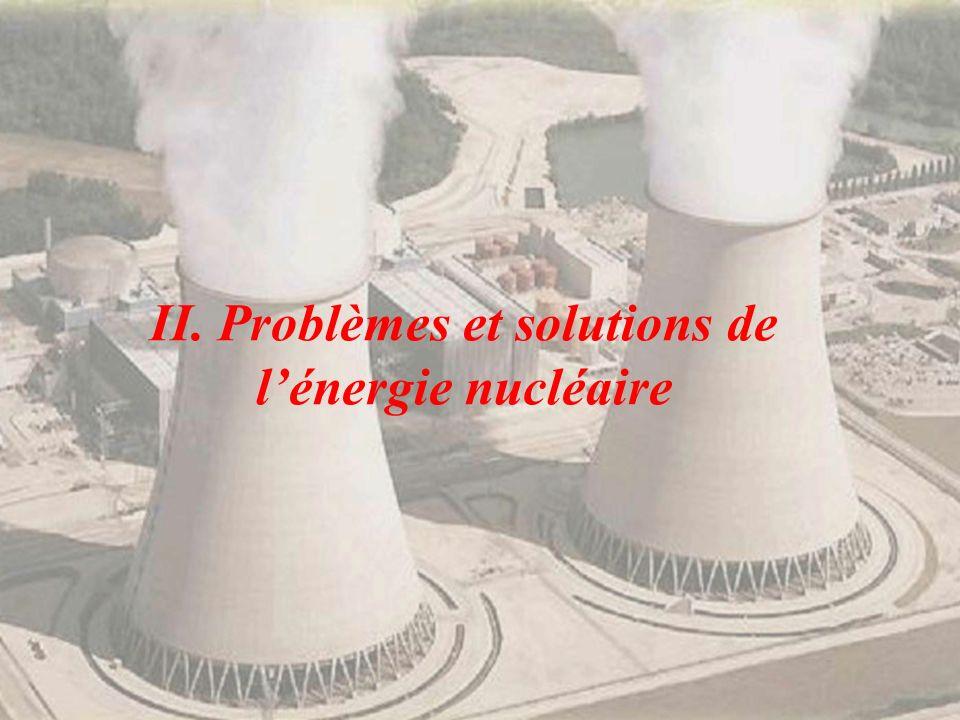 II. Problèmes et solutions de lénergie nucléaire