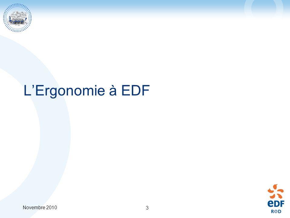 Novembre 2010 3 LErgonomie à EDF