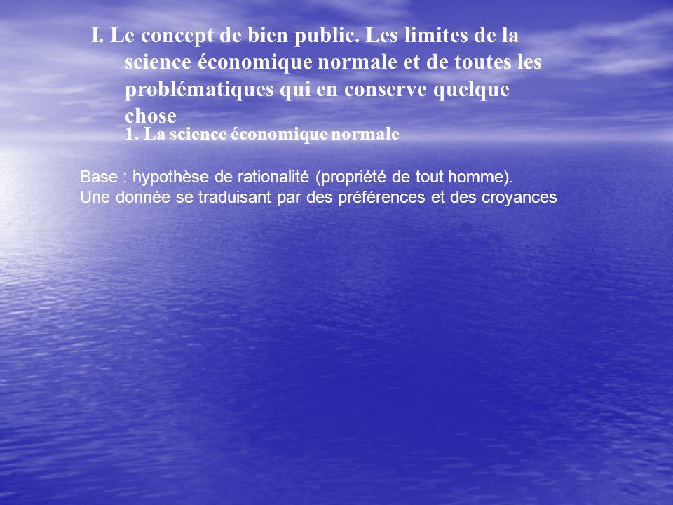 I.Le concept de bien public.