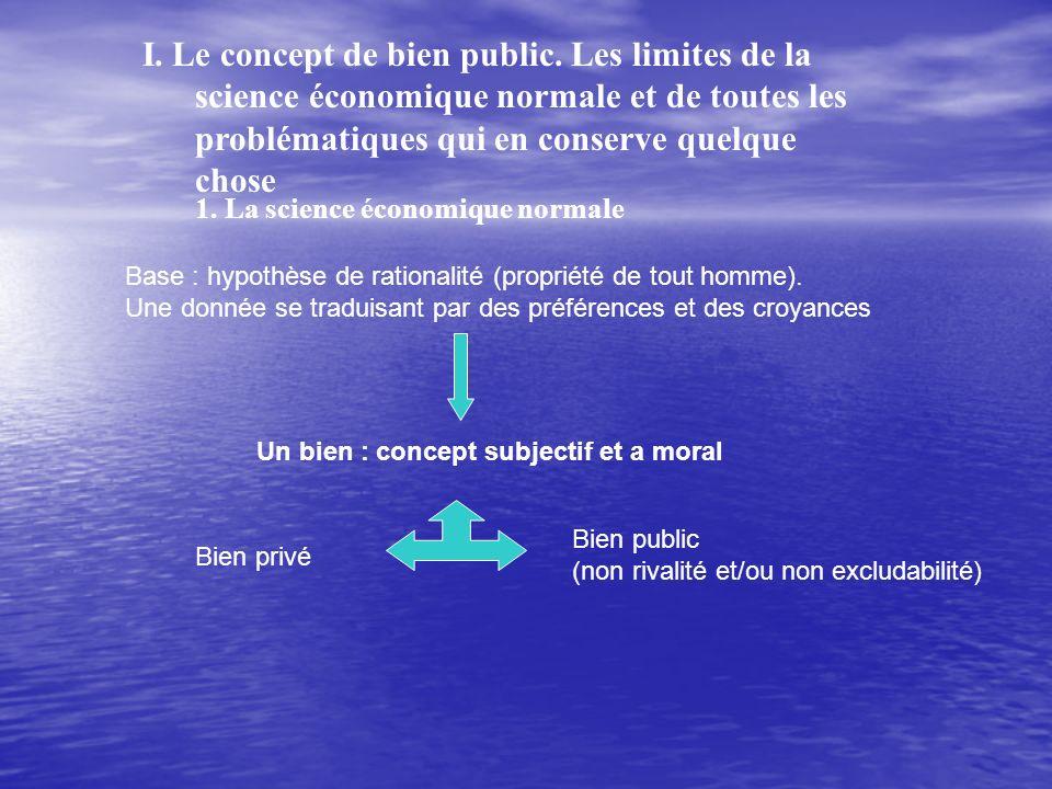 I. Le concept de bien public.