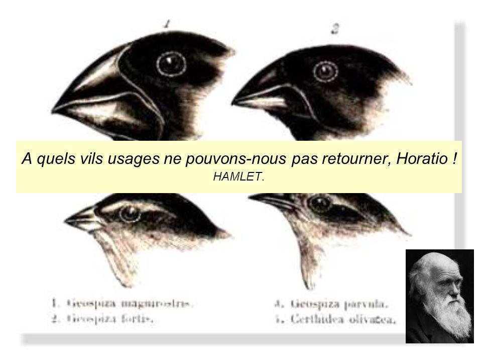 POURQUOI de telles différences dans la présentation de la pensée de DARWIN .