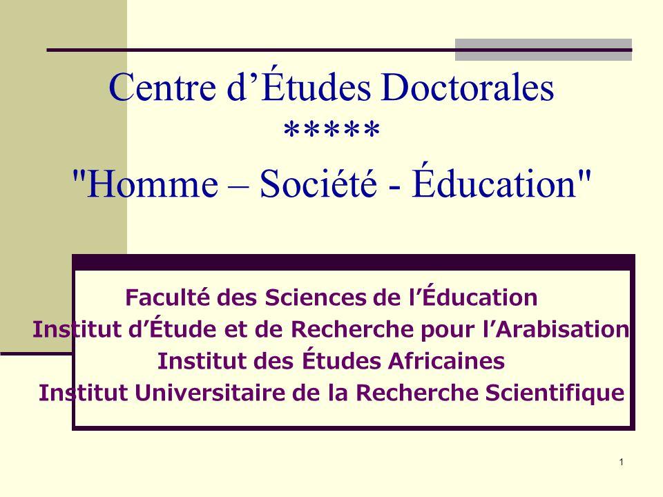 1 Centre dÉtudes Doctorales *****