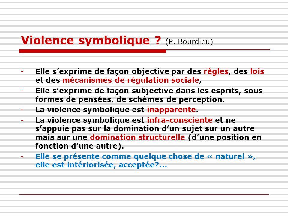 Violence symbolique .(P.
