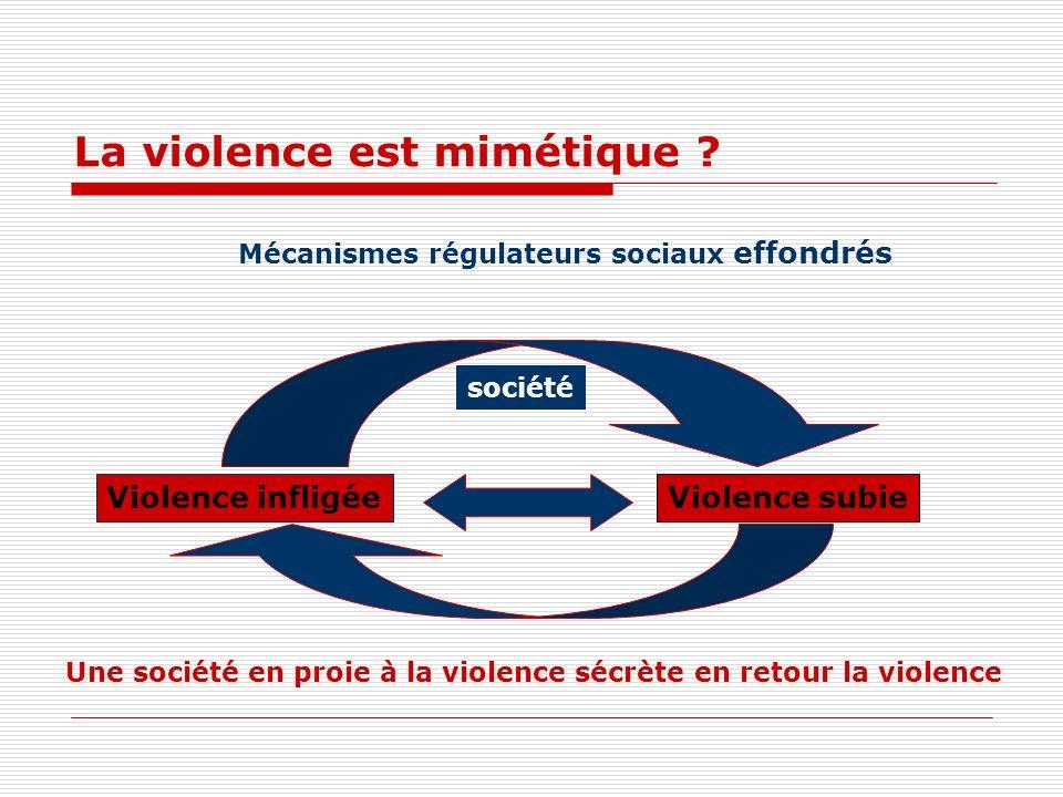 La violence est mimétique .
