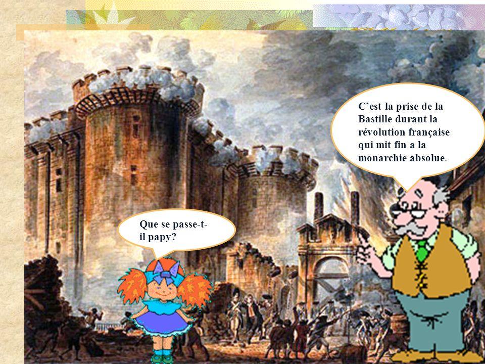 Les temps modernes Qui est ce personnag e papy? Cest louis XIV. Il a créé la monarchie absolue.