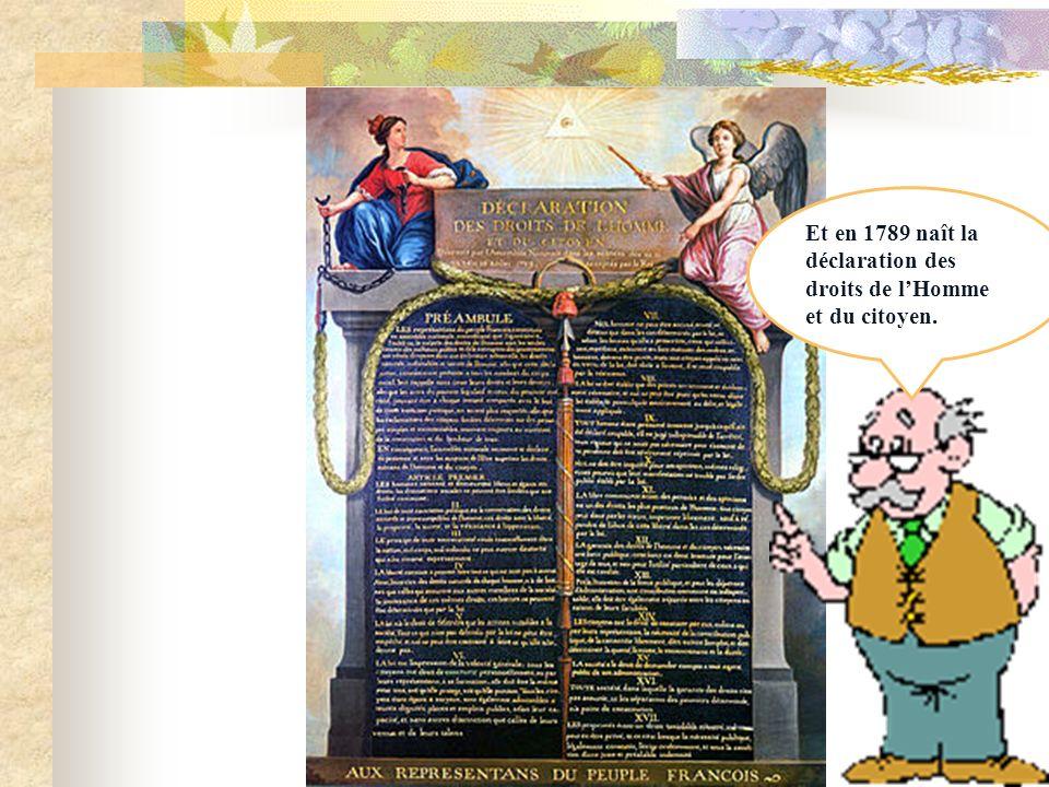 Cest la prise de la Bastille durant la révolution française qui mit fin a la monarchie absolue. Que se passe-t- il papy?