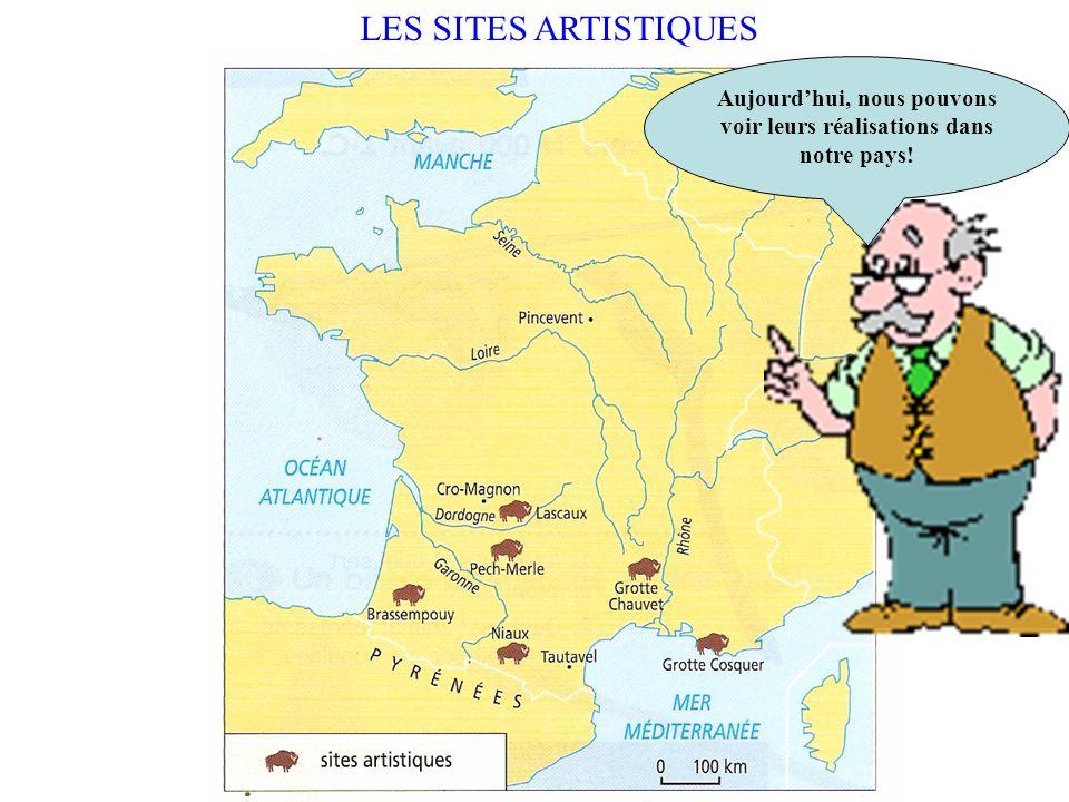 LART PARIETAL Lart apparaît. Les hommes préhistoriques dessinent sur les parois des grottes.