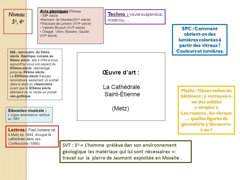 SVT : 5 e -« Lhomme prélève dan son environnement géologique les matériaux qui lui sont nécessaires »: travail sur la pierre de Jaumont exploitée en M