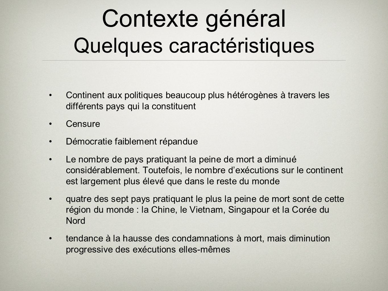 Contexte général Quelques caractéristiques Continent aux politiques beaucoup plus hétérogènes à travers les différents pays qui la constituent Censure