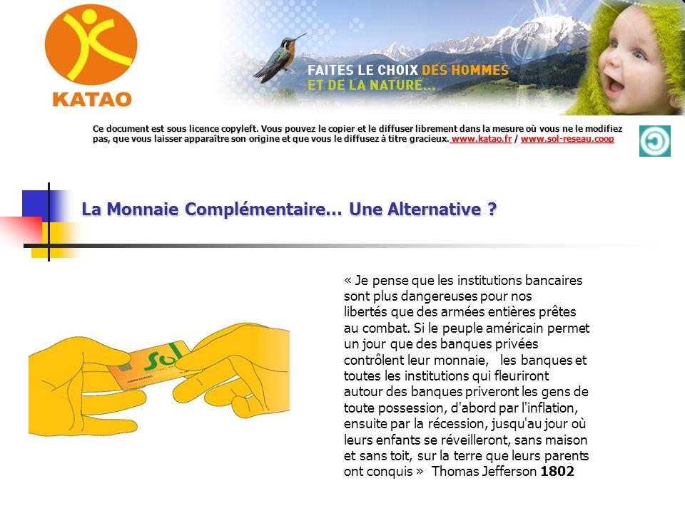 La Monnaie Complémentaire… Une Alternative .