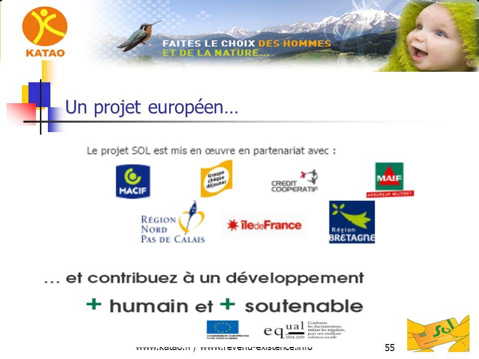 www.katao.fr / www.revenu-existence.info 55 Un projet européen…
