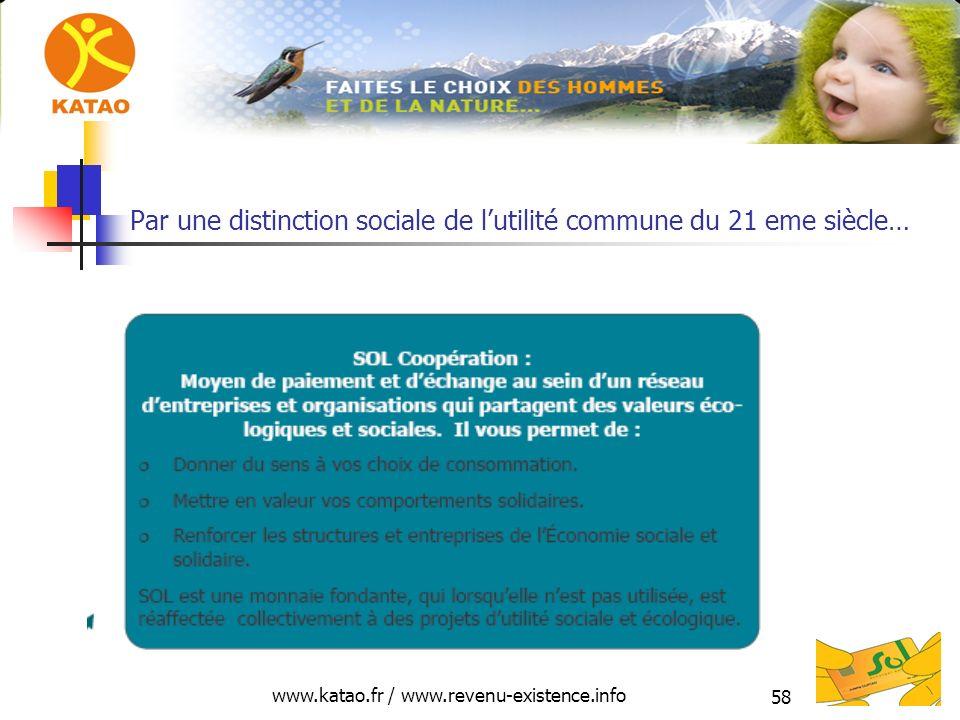 www.katao.fr / www.revenu-existence.info 58 Par une distinction sociale de lutilité commune du 21 eme siècle…