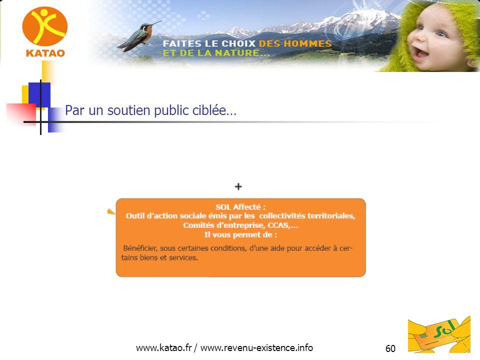 www.katao.fr / www.revenu-existence.info 60 Par un soutien public ciblée…