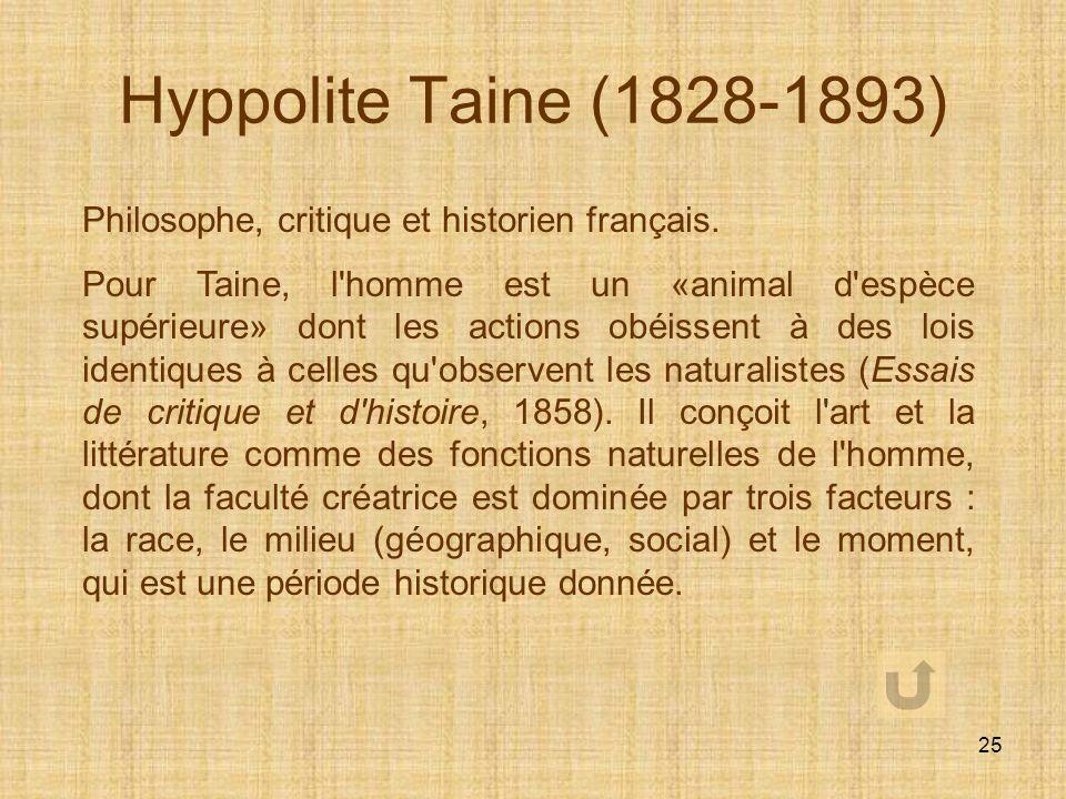 24 Auguste Comte (1798-1857) Auguste Comte est le philosophe français fondateur du positivisme : les positivistes pensaient que la science était capab