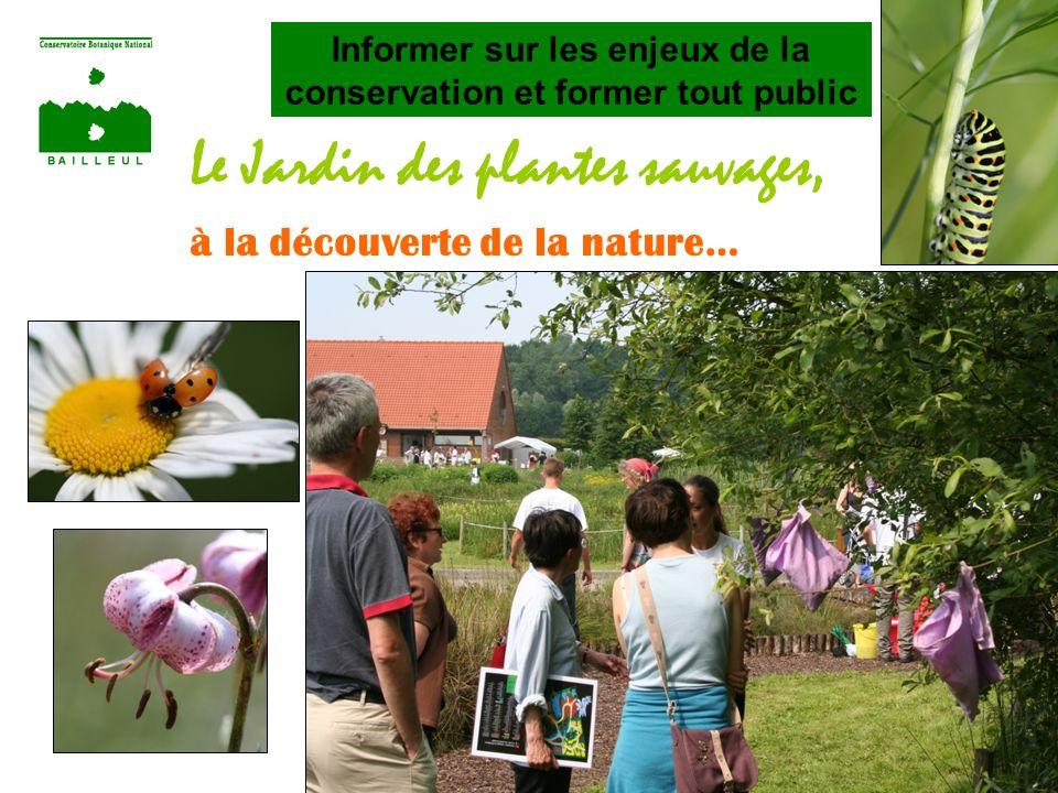 Le Jardin des plantes sauvages, à la découverte de la nature… Informer sur les enjeux de la conservation et former tout public