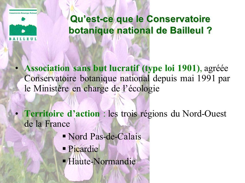 Association sans but lucratif (type loi 1901), agréée Conservatoire botanique national depuis mai 1991 par le Ministère en charge de lécologie Territo