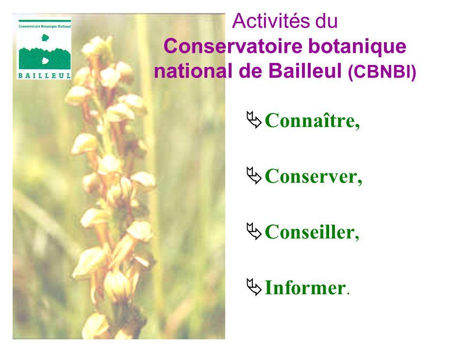 Connaître, Conserver, Conseiller, Informer. Activités du Conservatoire botanique national de Bailleul (CBNBl)